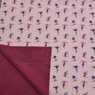 Actie Softshell Roze Ski Print