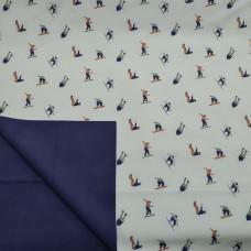 Actie Softshell Blauw Ski Print