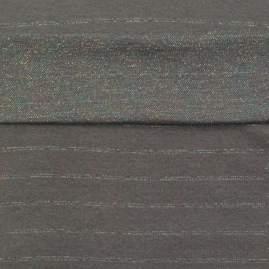 Ribbing Gray Striped Colorfull Glitter