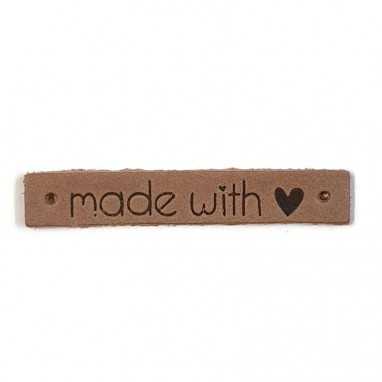 Leather Label Made With Love Taupe