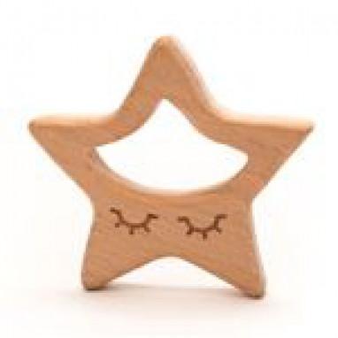 Teether Wood Star