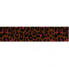 Elastic Brique / Pink / Black Tigerprint 4 cm