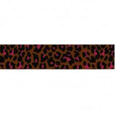 Elastic Brique / Pink / Black Tigerprint 4 cm