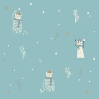 Waterproof Yetu & Snowman Stof