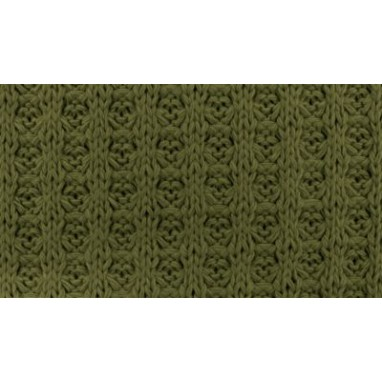 Cotton Knitted Waffle Army Green