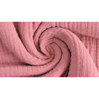 Cotton Knitted Waffle Old Pink