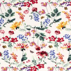 GEORGETTE DIGITAL PRINTED FLOWERS WHITE