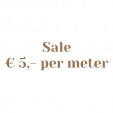 Sale 5,- per meter