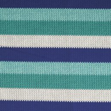 French Terry Knitted Stripes Blue