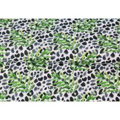 Stenzo Poplin Leaves with Panther print