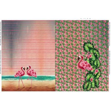Paneel Flamingo's Leaves