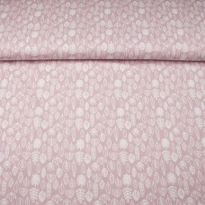 Tricot print leaves pink