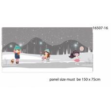 Ice Skating Girl Gray