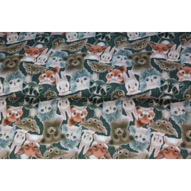 Animals All Over Print Gray