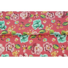 Floral Print Pink French Terry