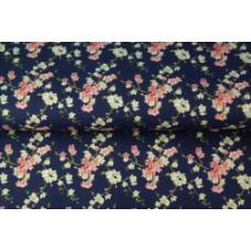 Stenzo poplin blossom dark blue