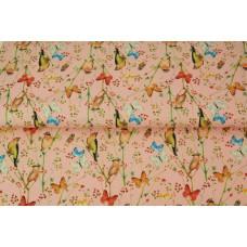 Stenzo poplin butterflies birds