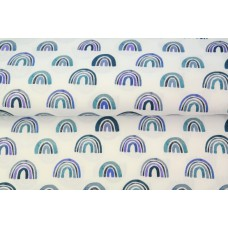 Stenzo poplin rainbow blue