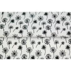 Stenzo poplin flowers black