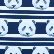 Jersey Printed Stripes Panda Dark Blue