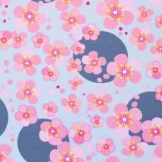 Jersey Printed Flower Power Grey