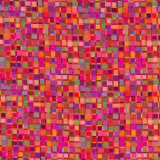 Digital Printing Crazy Squares Fuchsia