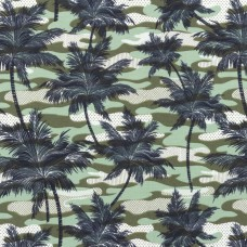 Tricot Bedrukt Armyprint Palm Army