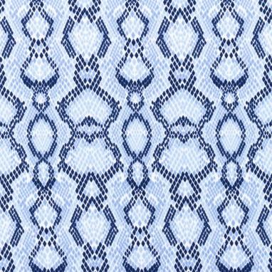 Tricot Python Blue