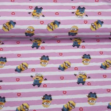 Action jersey minions pink hearts