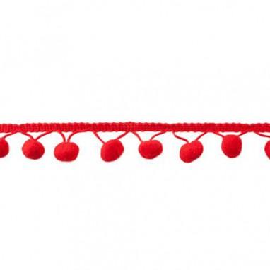Bolletjesband large Red