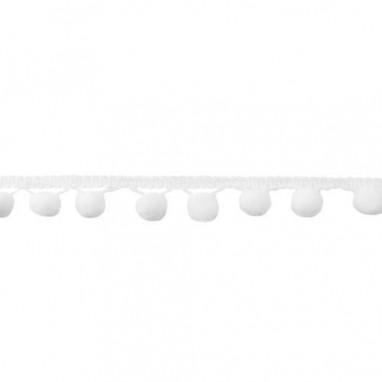 Bolletjesband large White