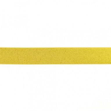Glitter Elastic 25 mm Gold