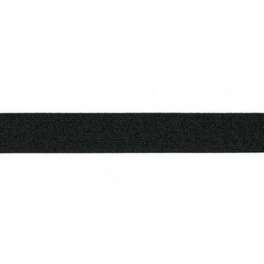 Glitter Elastic 25 mm Black