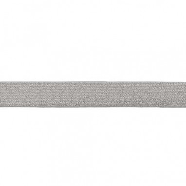 Glitter Elastic 25 mm Gray