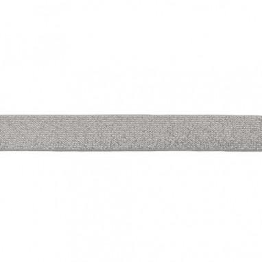 Glitter Elastic 25 mm Gray