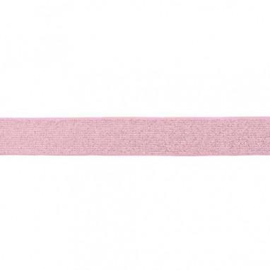 Glitter Elastic 25 mm Pink