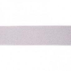 Glitter Elastic 5 cm Gray