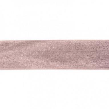 Glitter Elastic 5 cm Taupe