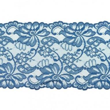 Stretchable Lace Uni Dark Blue