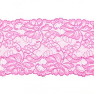 Stretchable Lace Uni Fuchsia