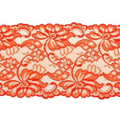 Stretchable Lace Uni Red