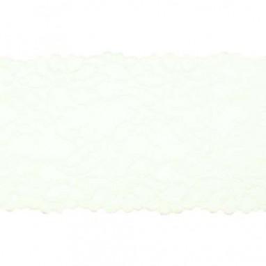 Stretchable Lace Uni Ecru