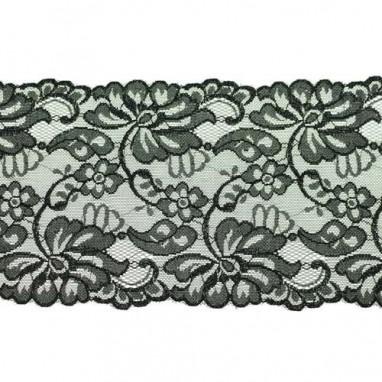 Stretchable Lace Uni Black