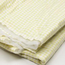 Groen/Geel Doorgestikt Gewatteerd Katoen