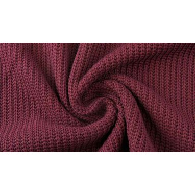 Cotton Knitted Cable Dark bordeaux