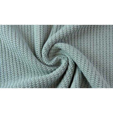 Cotton Knitted Cable Dark Old Green