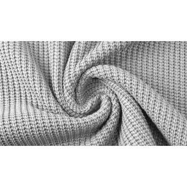 Cotton Knitted Cable Grey