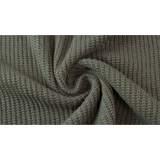 Cotton Knitted Cable Army Green