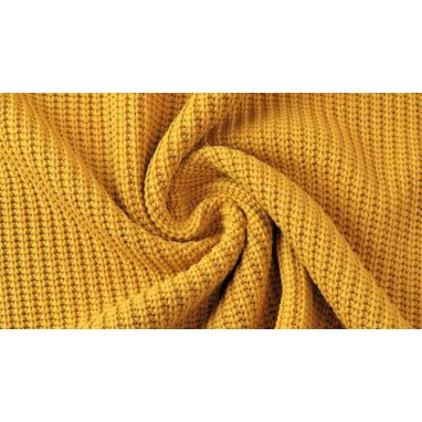 Cotton Knitted Cable Yellow