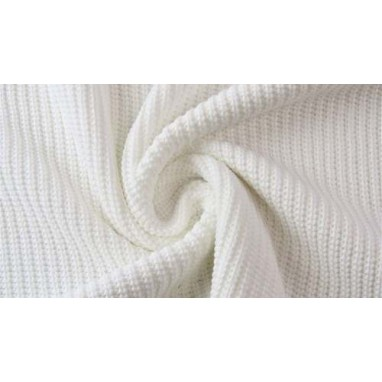 Cotton Knitted Cable Ecru